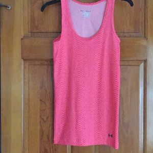 Coral colored UnderArmour tank top